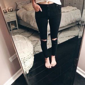 Free People ripped black jeans
